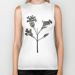 Blackberry Spray Illustration Biker Tank