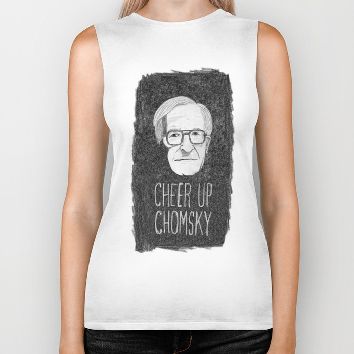 Cheer Up Chomsky Biker Tank