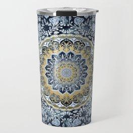 Blue Floral Mandala Travel Mug