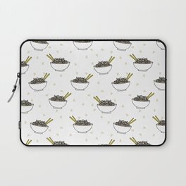 Noods pattern food kitchen asian noodle bowl illustration Laptop Sleeve
