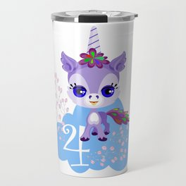 Unicorns Child Birthday Party Cute Cuddly Shirt Gift Travel Mug