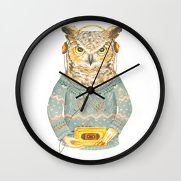 Feathers & Tunes Wall Clock