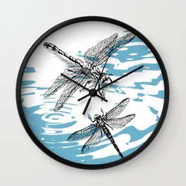 Dragonflies print Wall Clock