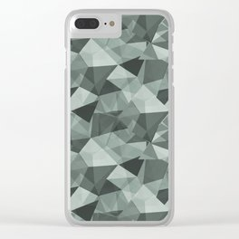 Abstract Geometrical Triangle Patterns 4 Valspar America Sea Green - Green Water - Zinc Blue Clear iPhone Case