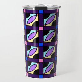 Color Block Retro Travel Mug