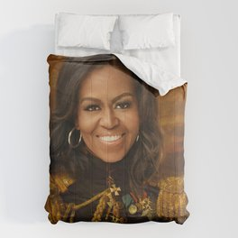 Michelle Obama Poster, Classical Painting, Regal art, General, First Lady, Democrat, Political Comforters