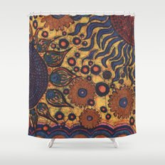 Summertime Batik Shower Curtain