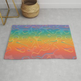 Colorful Holographic Foil Pattern 3d Texture Trendy Colors Rug