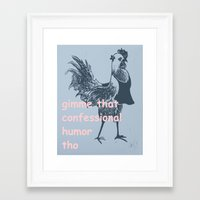 humor Framed Art Prints featuring humor by botitta
