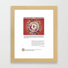 Next Generation  Entrepreneurship Framed Art Print