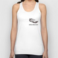 delorean Tank Tops featuring Delorean by ruvaen