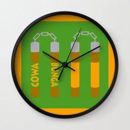 Cowabunga (Michelangelo Version) Wall Clock