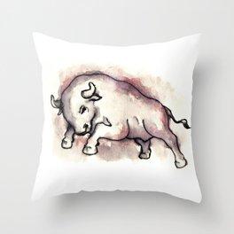 Bull Blood Throw Pillow