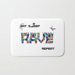 Eat Sleep RAVE Repeat Bath Mat