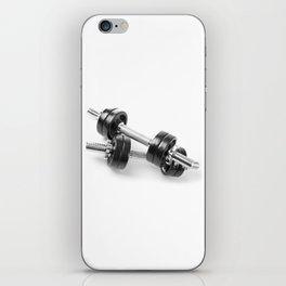 Chrome shiny hand barbells iPhone Skin