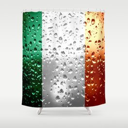 Flag of Ireland - Raindrops Shower Curtain