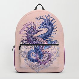 Seahorse tattoo Backpack