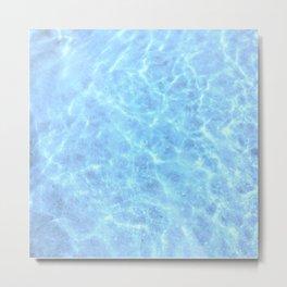 Light Water Metal Print