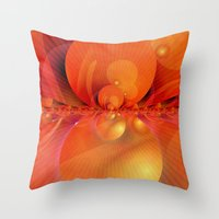 outer space Throw Pillows featuring Outer Space by Christine baessler