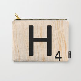 Scrabble Letter H - Large Scrabble Tiles Carry-All Pouch