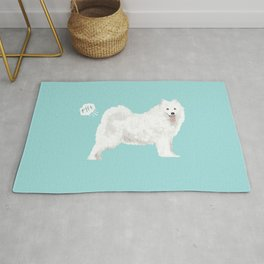 samoyed funny farting dog breed pure breed pet gifts Rug