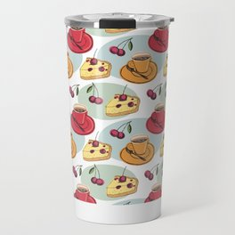 Cherry Pie And A Hot Cup Of Coffee Travel Mug