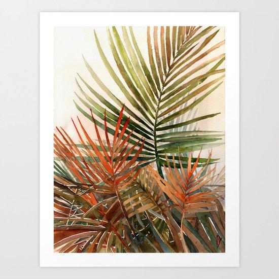 Arecaceae - household jungle #1 Art Print