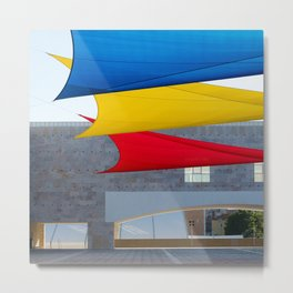 Blue Yellow Red Metal Print