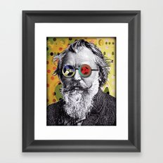 Brahms in Reel to Reel Glasses Framed Art Print
