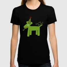 Party Animal-Green Black SMALL Womens Fitted Tee