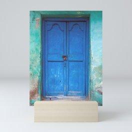Blue Indian Door Mini Art Print