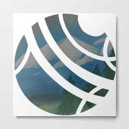Visions -Mountainside Metal Print