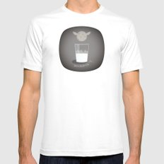 Gone with the milk MEDIUM White Mens Fitted Tee