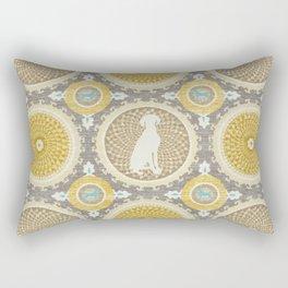 BLUE WEIMARANER & AMBER MEDALLIONS Rectangular Pillow