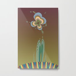 Quirky Flora Metal Print