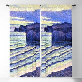 French Coastal Scene by Maximilien Luce Blackout Curtain