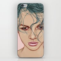 swim iPhone & iPod Skins featuring SWIM by Laura O'Connor