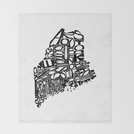 Typographic Maine Throw Blanket