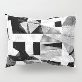 8bit B&W Abstract Pillow Sham