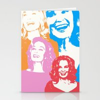 jessica lange Stationery Cards featuring Jessica Lange - Her smile is everything by BeeJL