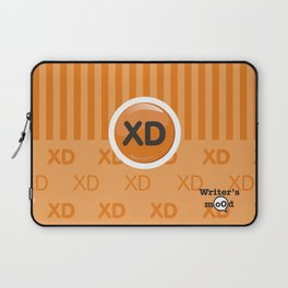 Orange Writer's Mood Laptop Sleeve