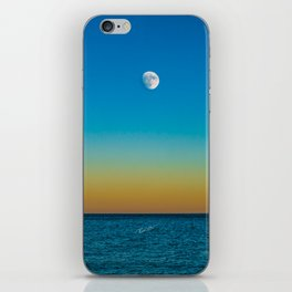 Moon Rising Over Chicago's North Shore iPhone Skin