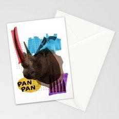 Rhinocéros Stationery Cards