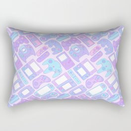 Video Game Controllers in Pastel Colors Rectangular Pillow