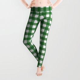 Vintage Green Gingham Leggings