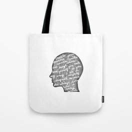 Positive words in my head Tote Bag