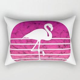 Flamingo Flamingos Walk Pink Colorful Retro Gift Rectangular Pillow