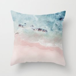 Ocean Pink Blush Throw Pillow