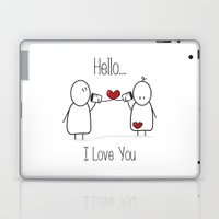 Hello I Love You Laptop & iPad Skin