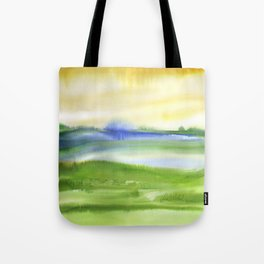 watercolor landscape Tote Bag
